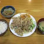一木 - しょうが焼きスペシャル790円ご飯少なめと納豆150円