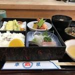 鮨 車屋 - 料理写真:日替わり定食全貌(2018.4.12)