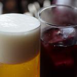 84034690 - ビールとサングリアで乾杯♪