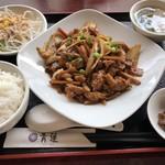84035929 - 鶏肉野菜の黒胡椒炒め