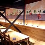 都野菜 賀茂 - 木の温かみを感じる町家風の店内