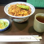 天忠 - かきあげ丼(1,800円)