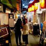 活海老バル orb - 【おまけ写真】天満界隈は、1つ細い道に入っても、店がうじゃうじゃある。