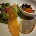 Koume - 前菜3人組。