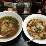 福運來 - ☆台湾ラーメンと、麻婆飯のセット(夜は900円(税込)) 昼は750円とお得感あり