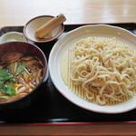 田舎うどんかもkyu - 鴨汁つけうどん(950円)