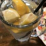 鉄板焼き 伽門 - レモンサワー