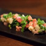 Nodo Rosso - 2018.4 豚タンのタルタル仕立て 新ジャガ 菜の花 アメーラトマト