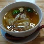84054943 - 特級白醤油つけ麺のスープ
