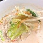 ラーメン万福 - 牛乳味噌スープ