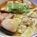 支那そば なかじま - わんたん焼豚そば(大盛)+味付けたまご【料理】