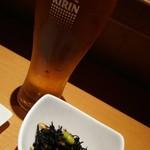 福々廊 - 料理写真:生ビールとお通し