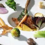ル ベナトン - 季節野菜の温サラダ トリュフのソース
