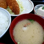 ひさや - 料理写真:カニの味噌汁