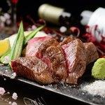 個室×鉄板Dining 鉄神 - 料理写真:黒毛和牛ステーキ~トリュフ塩と山葵で~