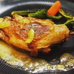 ブルターニュ産バルバリー鴨のコンフィ 黄金柑のソース
