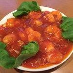薊丘 - 料理写真:海老のチリソース