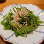 築地玉寿司 ささしぐれ - 水菜のサラダ