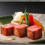 古窯 - 米沢牛のステーキ御膳
