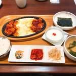 チェゴヤ - チーズダッカルビ定食 @1,380円。