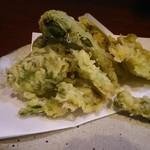 きたにし - 春野菜の天ぷら 750円