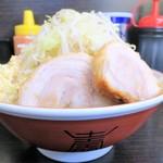 ラーメン二郎 - 料理写真:小ラーメン+ニンニク多め野菜