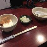 竹亭にしき - 豆腐、漬物