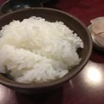 竹亭にしき - ツヤツヤご飯♪