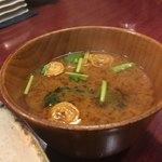 竹亭にしき - お味噌汁