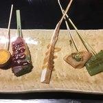 京ごはんと鉄板焼き 京月 - ◆変わり野菜の鉄板串焼き5種盛り合わせ