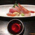 京ごはんと鉄板焼き 京月 - ◆鮮魚お造り5種盛り合わせ