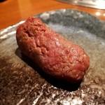 生粋 - 赤身肉 火入れには細心の注意して また赤身独特の味わい