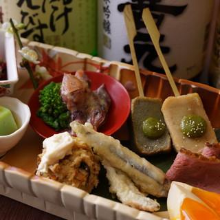 京創作の多彩な料理をお楽しみください。