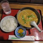 うどんの森川 - カレーうどん(麺冷たいの