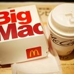 マクドナルド - ビッグマック バリューランチ(コンビ)¥400 +カフェラテチョイス¥50