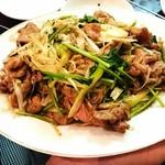 京味居 - 羊肉と香菜の炒め