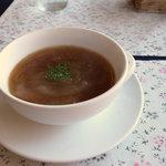 ステーキハウス一頭屋 - オニオンスープ(ランチ)