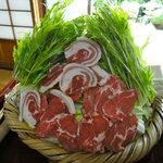 田舎料理おかりば - 猪鍋(具材)