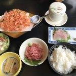 くらさわや - 【2018.4.3】かき揚げさしみミニ定食¥2268