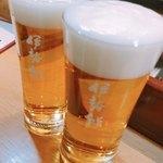 伊勢鮨 JR小樽駅タルシェ店 - 格別に美味しいビールで乾杯