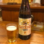 八起 - キリンビール大瓶(580円)