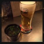 俺の魚を食ってみろ!! - 生ビール&蜆汁