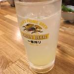 鳥益 - 生レモンサワー