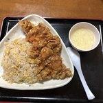 中華食堂劉 - 料理写真:油淋鶏チャーハンスープ付@600