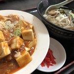 華龍 - 醤油ラーメンと麻婆飯