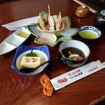 札幌かに本家 - 最初は冷たい料理から、お昼の会席「稚内 (3500円)」