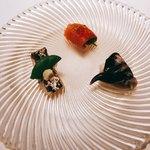 かわ村 - antipasto / 旬の鮮魚の前菜盛り合わせ3種