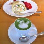 8413223 - 抹茶カプチーノ&トリオ・デセール