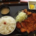 がっつり亭 - wチキンカツ定食
