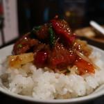 ザ・肉餃子 四川厨房 - 牛肉四川煮オンザライス